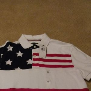 Tommy Hilfiger polo shirt American Flag